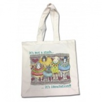 A Ball of Yarn & Crochet Hook canvas shopping bag